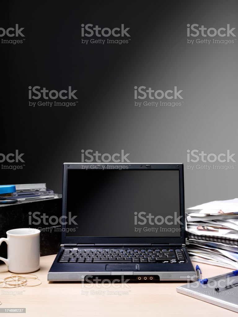Computer in the Office royalty-free stock photo