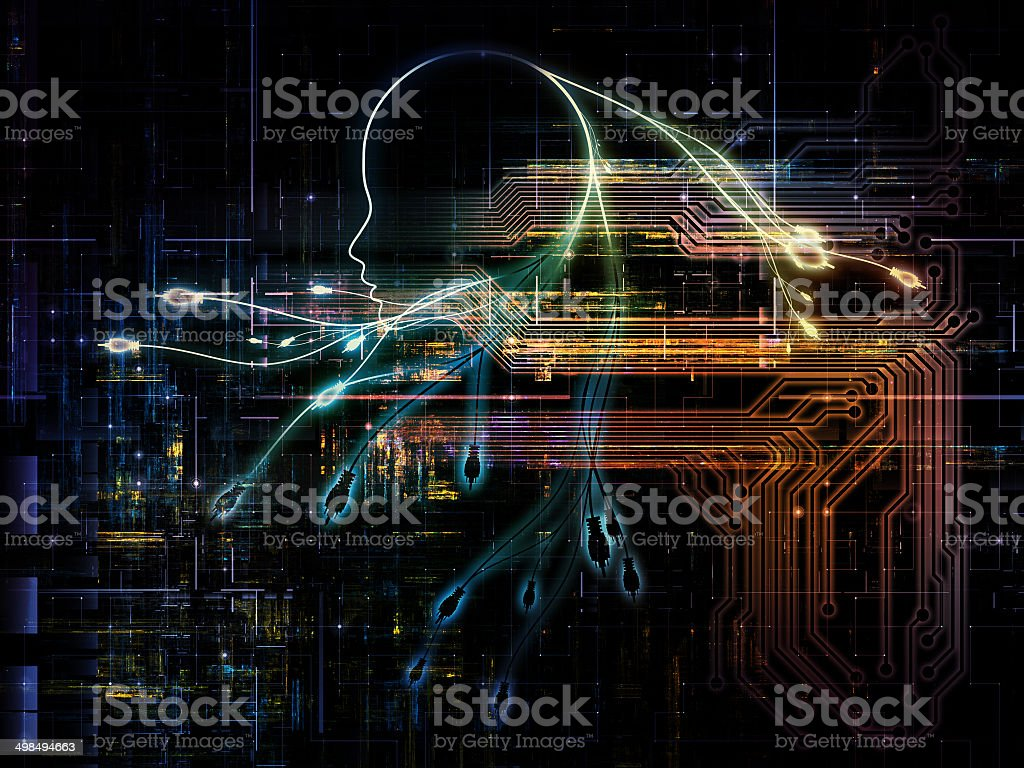 Computer Intelligence royalty-free stock photo