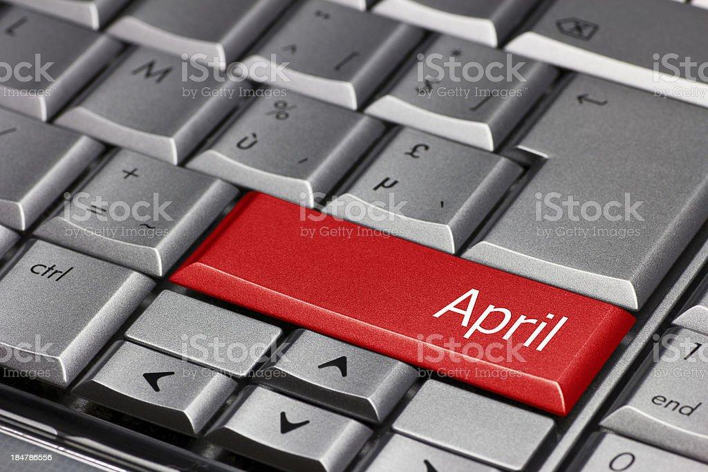 Computer key - April royalty-free stock photo