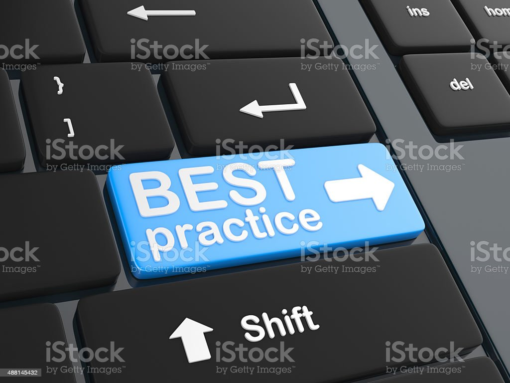 Computer key - Best Practice stock photo