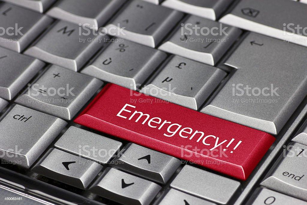 computer key - Emergency stock photo