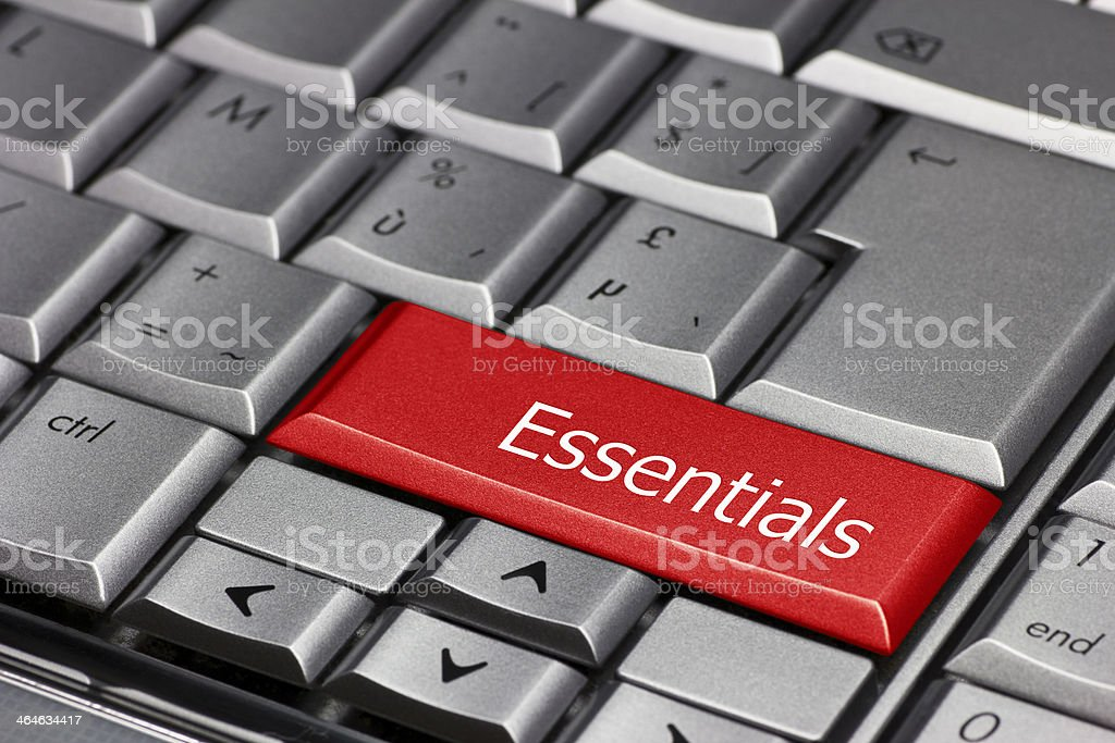 Computer key - Essentials stock photo