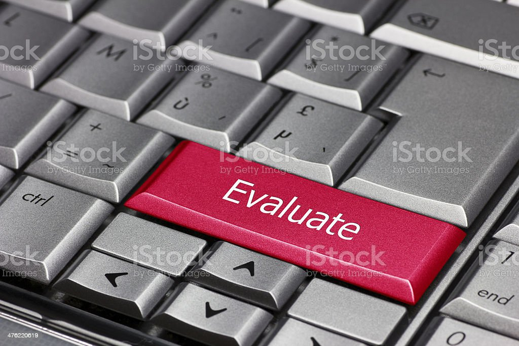 Computer key - evaluate royalty-free stock photo