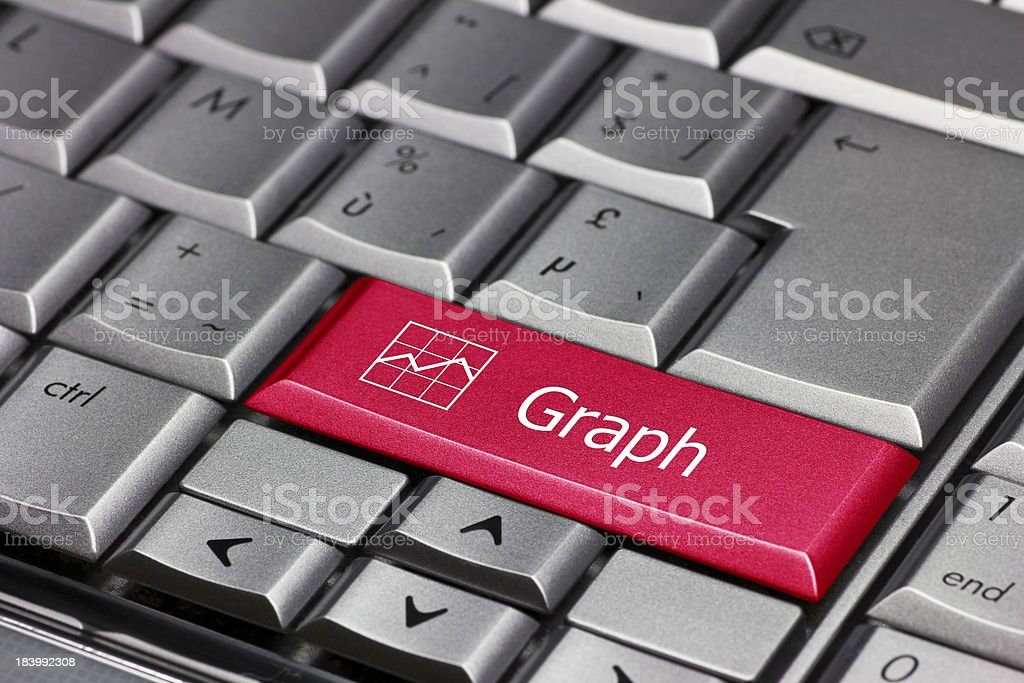 Computer key - Graph royalty-free stock photo