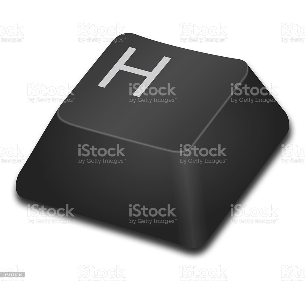 Computer Key - H royalty-free stock photo