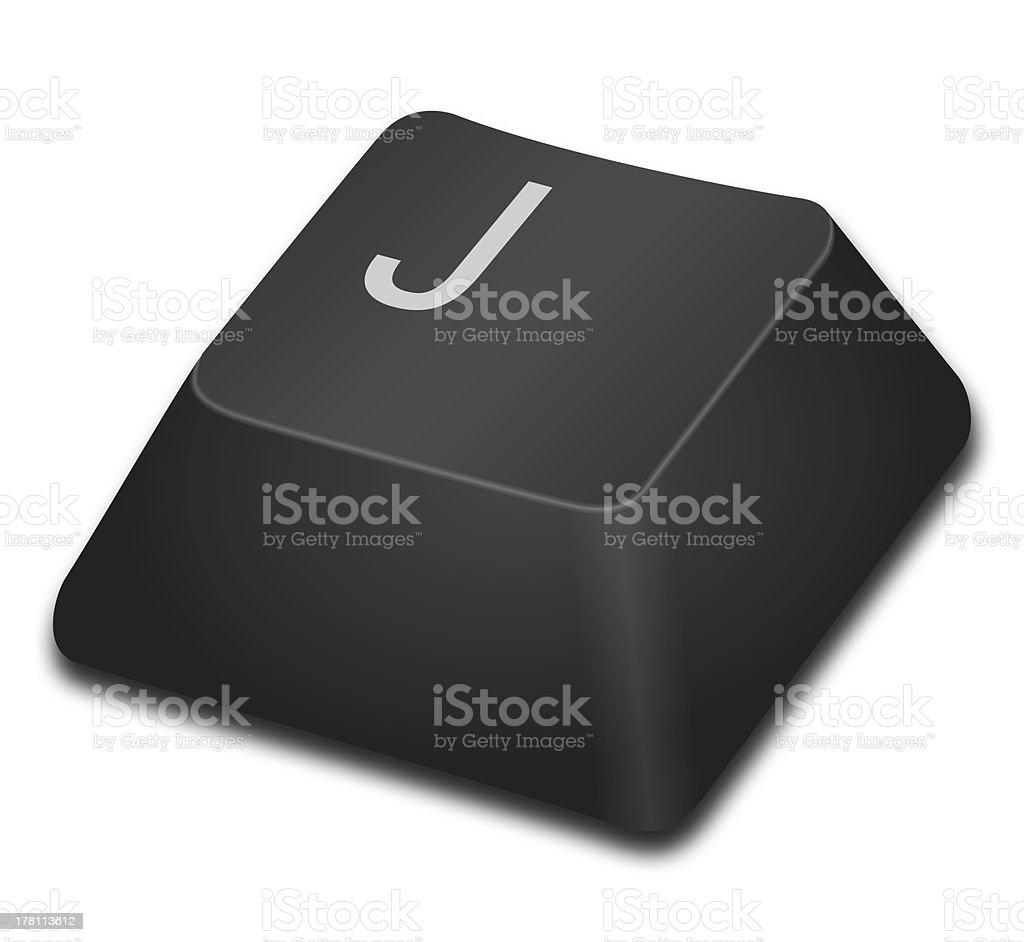 Computer Key - J royalty-free stock photo