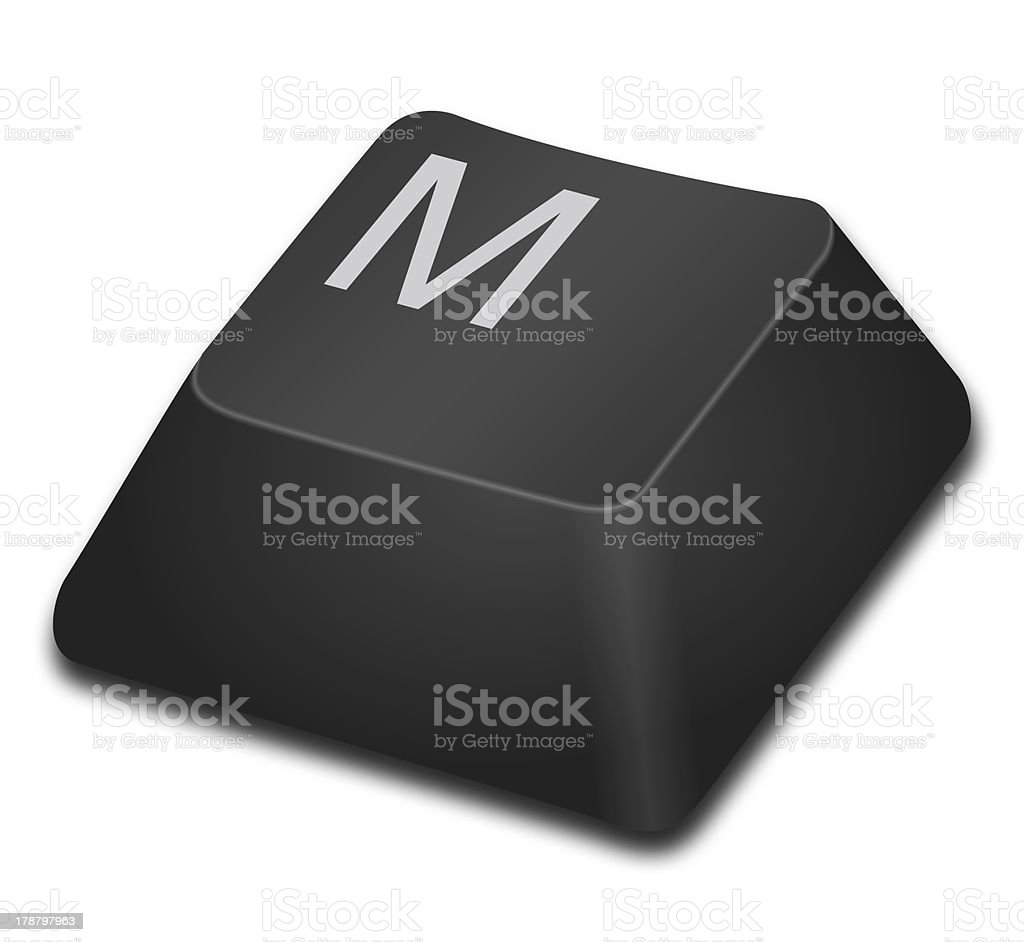 Computer Key - M royalty-free stock photo