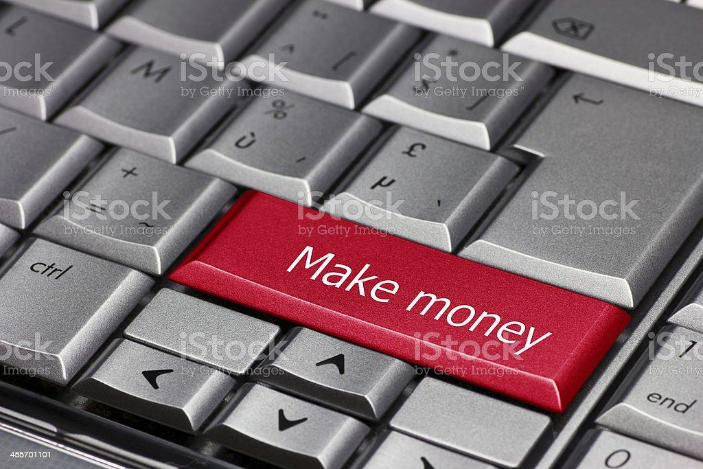 Computer key -Make Money royalty-free stock photo
