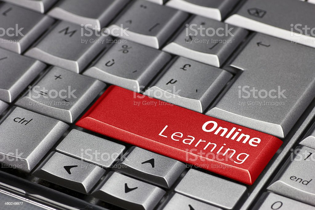 Computer Key - Online Learning stock photo