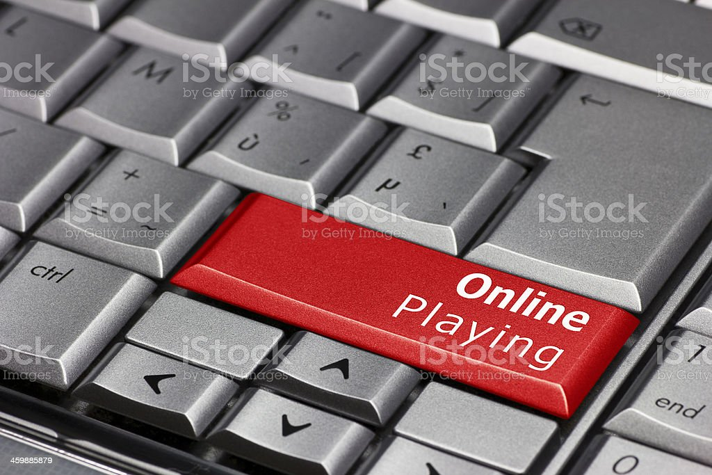 Computer Key - Online Playing royalty-free stock photo