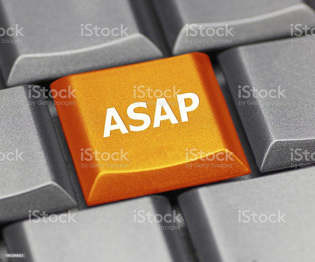 Computer key orange - ASAP stock photo