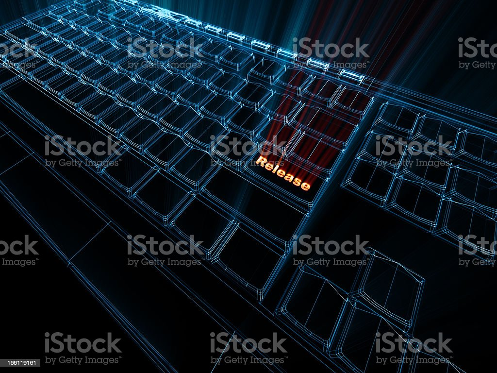Computer Key stock photo