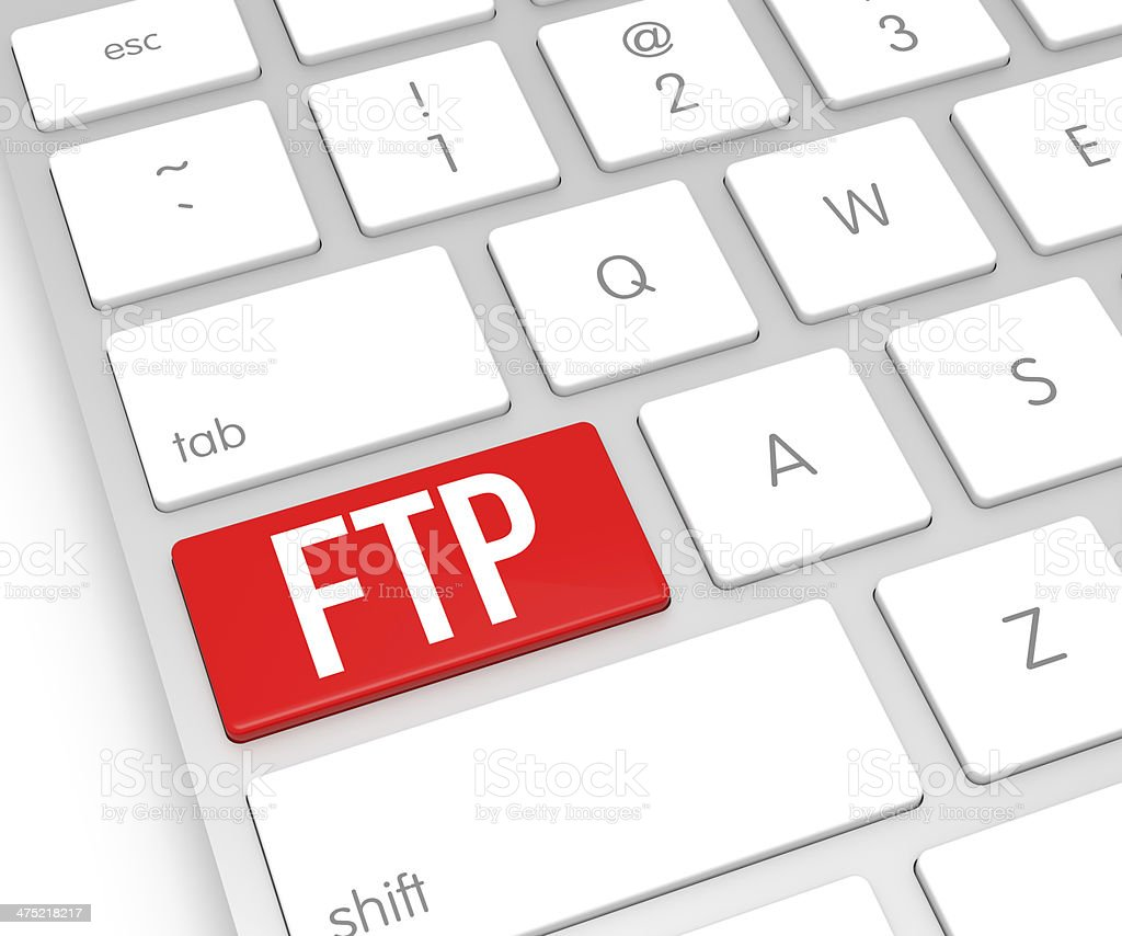 FTP Computer Key stock photo