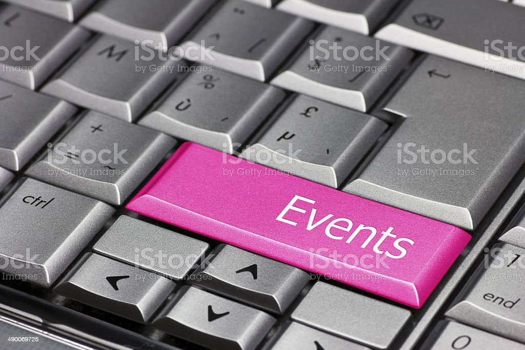 Computer Key pink - Events stock photo