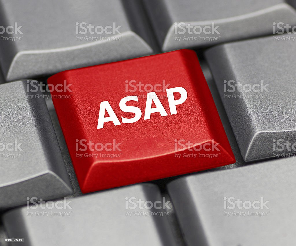 Computer key red - ASAP stock photo