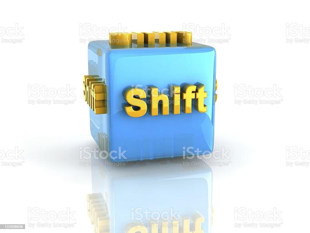 computer key Shift stock photo