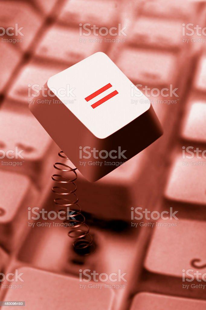 Computer Key Springing Up royalty-free stock photo