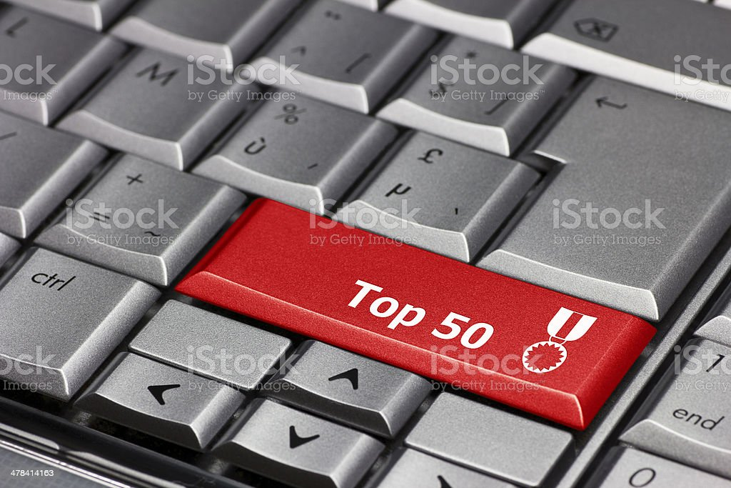 Computer key - Top 50 stock photo