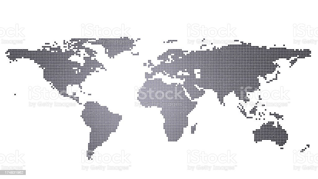 Computer Key World Map royalty-free stock photo