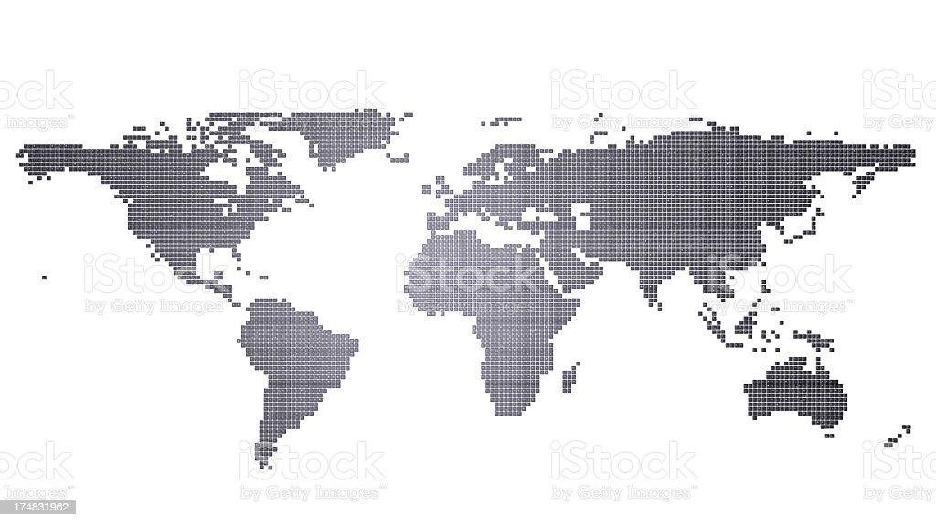 Computer Key World Map stock photo