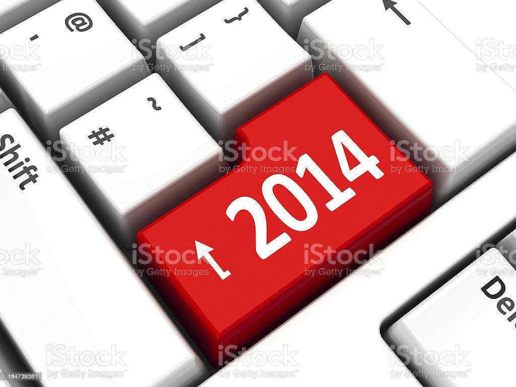 Computer keyboard 2014 royalty-free stock photo