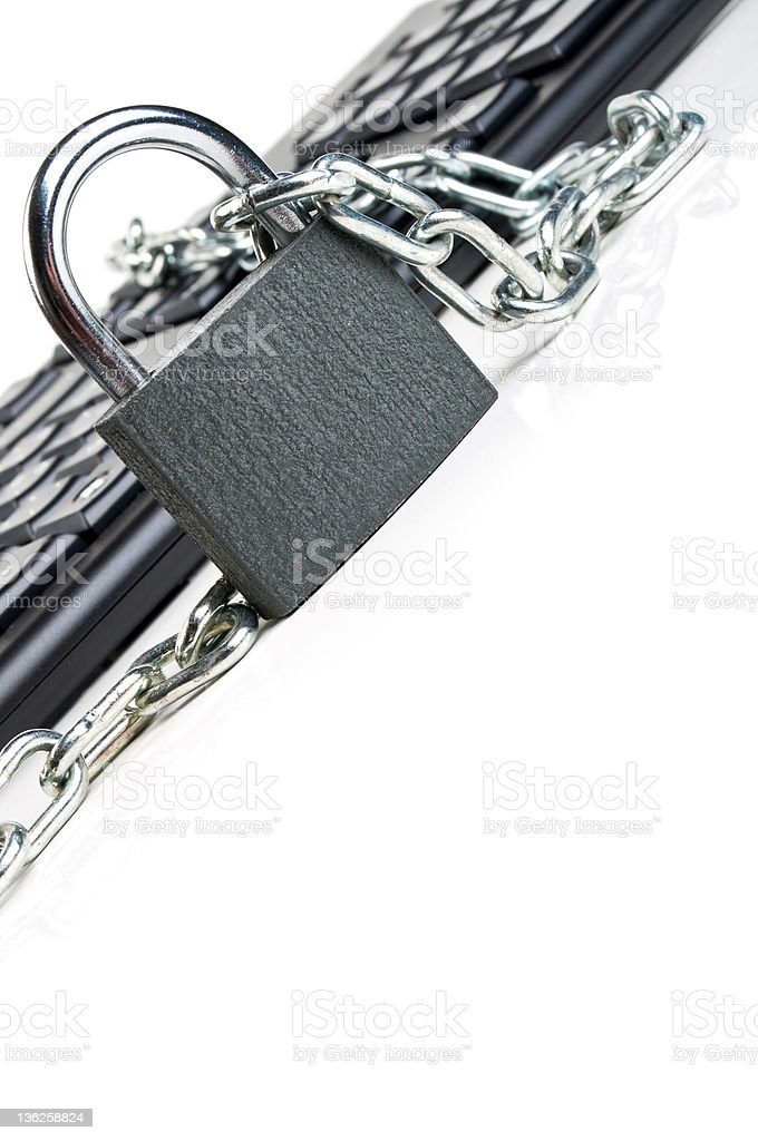 computer keyboard and lock stock photo