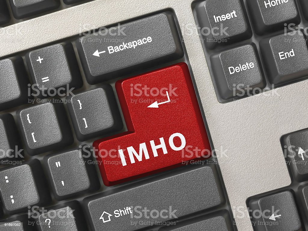 Computer keyboard - button IMHO royalty-free stock photo
