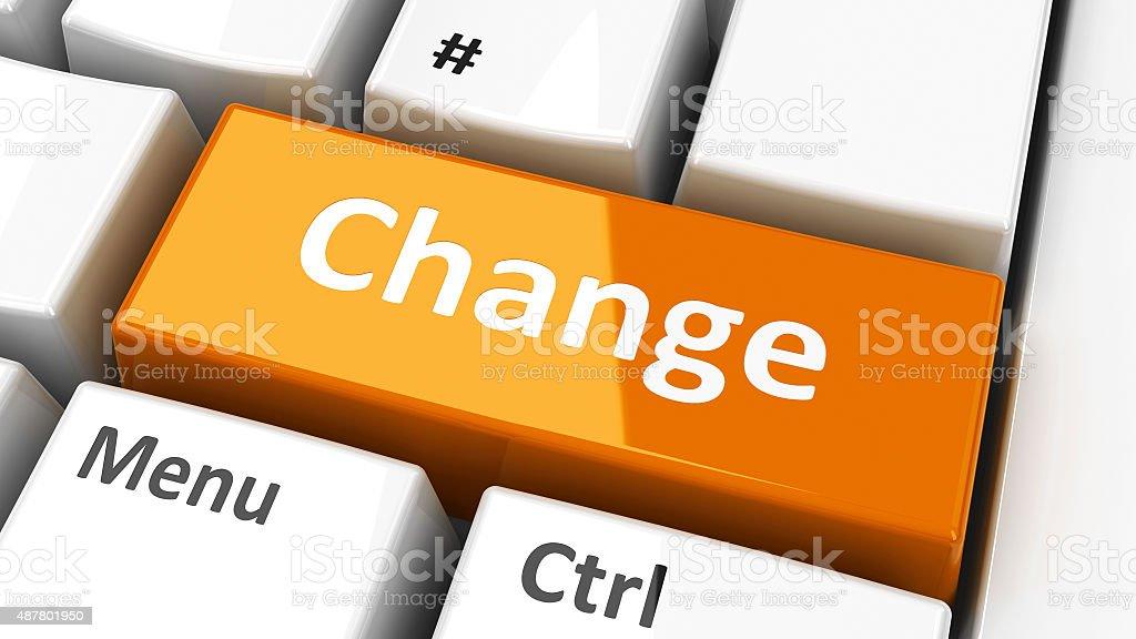 Computer keyboard change stock photo