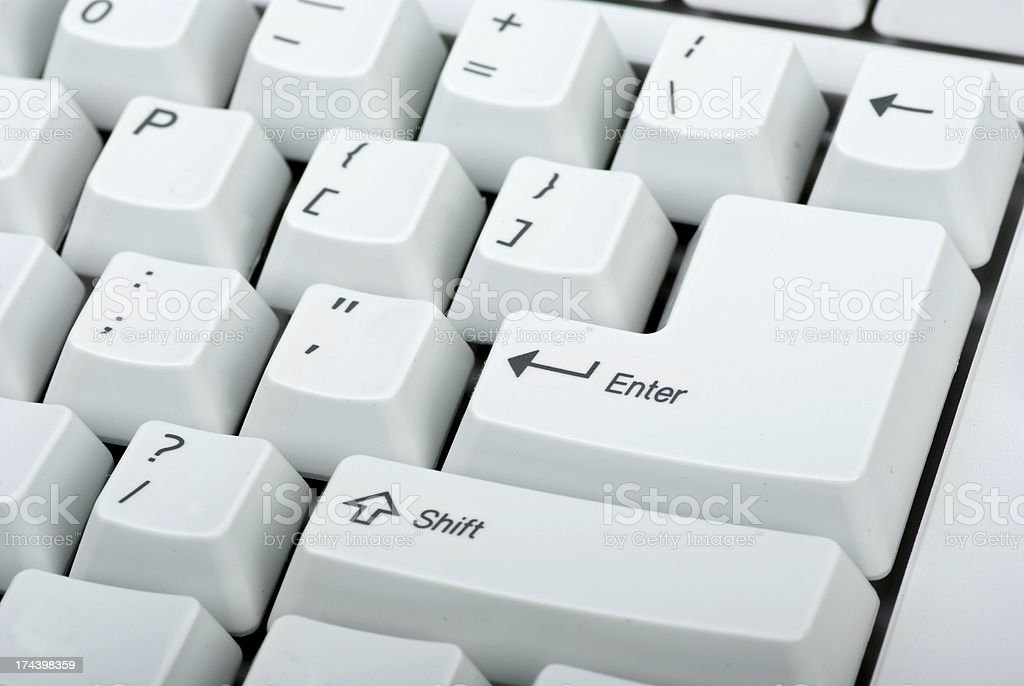 close-up do teclado de computador foto de stock royalty-free