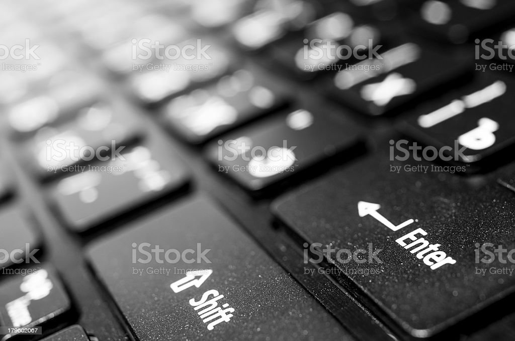 Computer(laptop) keyboard closeup royalty-free stock photo