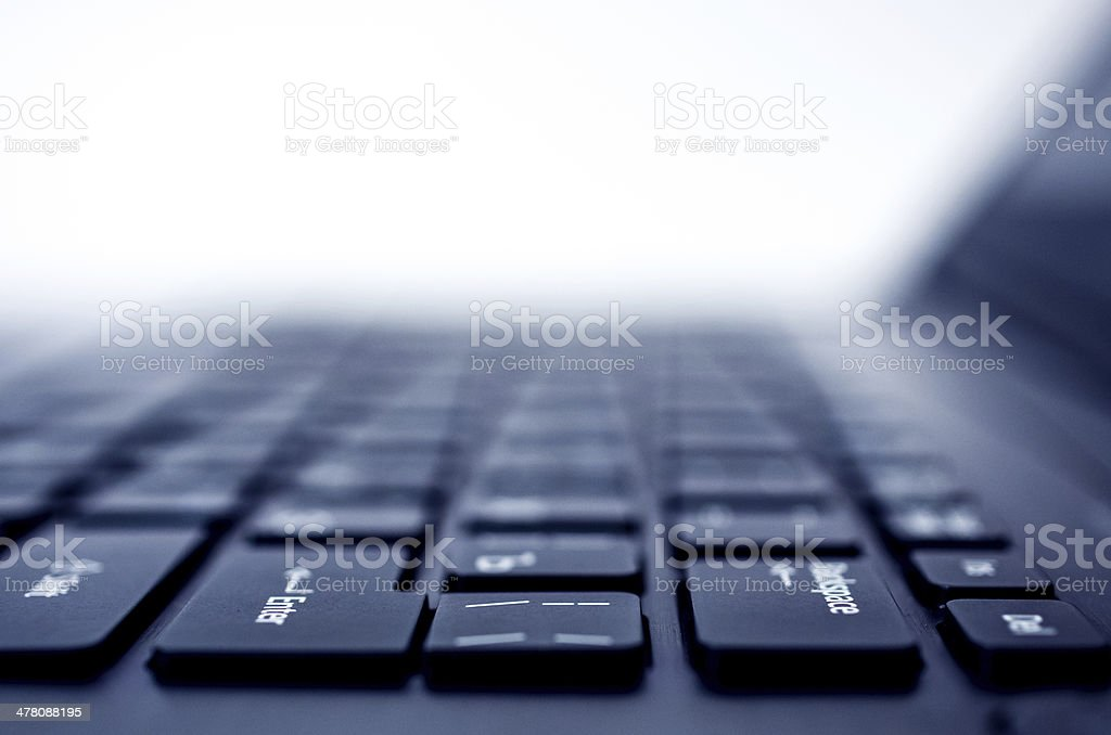 Computer(laptop) keyboard closeup royalty-free stock photo
