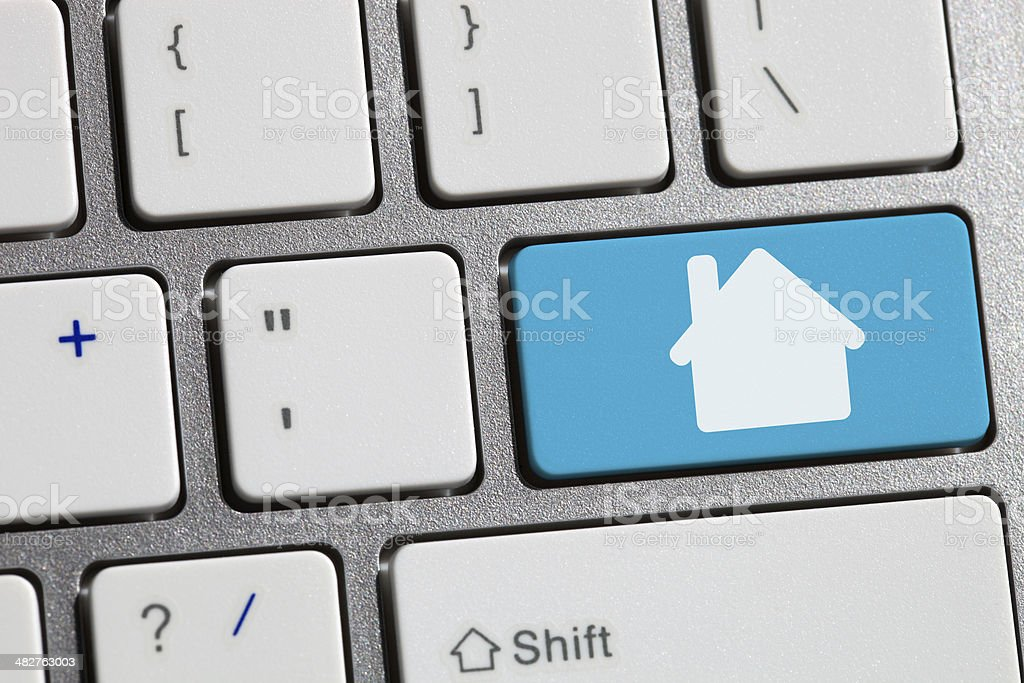Computer keyboard concept Image house stock photo