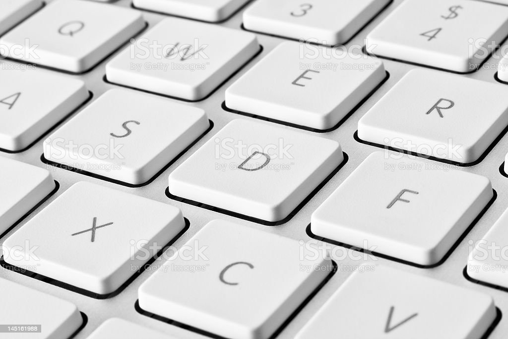 Computer keyboard detail stock photo