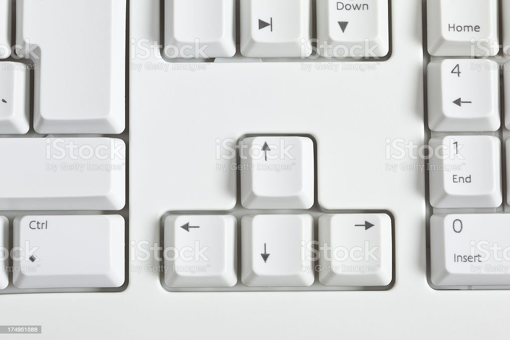 computer keyboard direction buttons stock photo