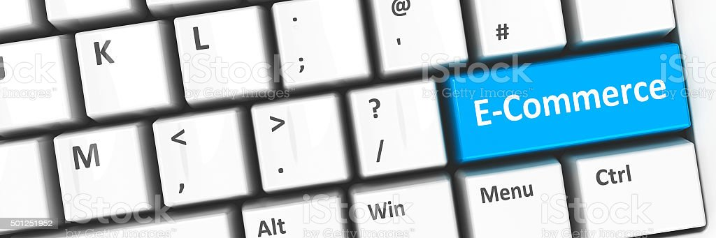 Computer keyboard E-Commerce stock photo