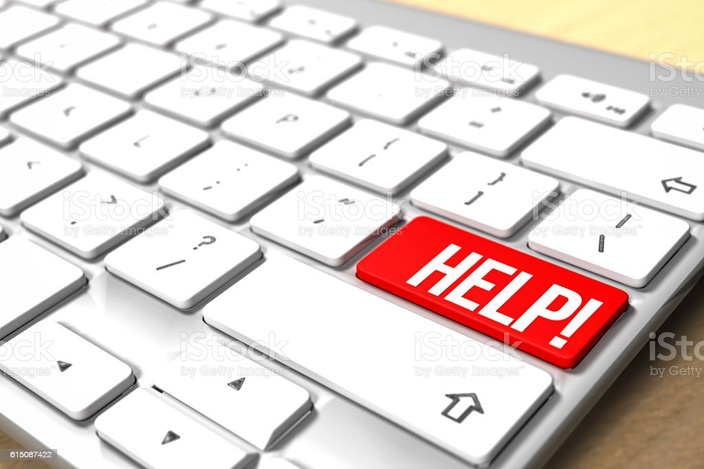 Computer Keyboard Help! stock photo