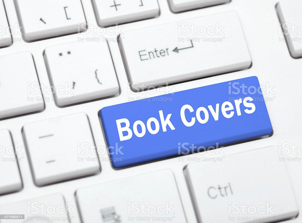 Computer keyboard key with the words 'Book covers' on it. royalty-free stock photo