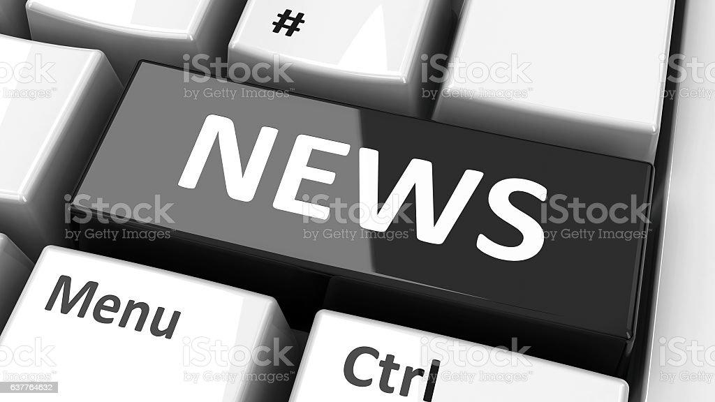 Computer keyboard news stock photo