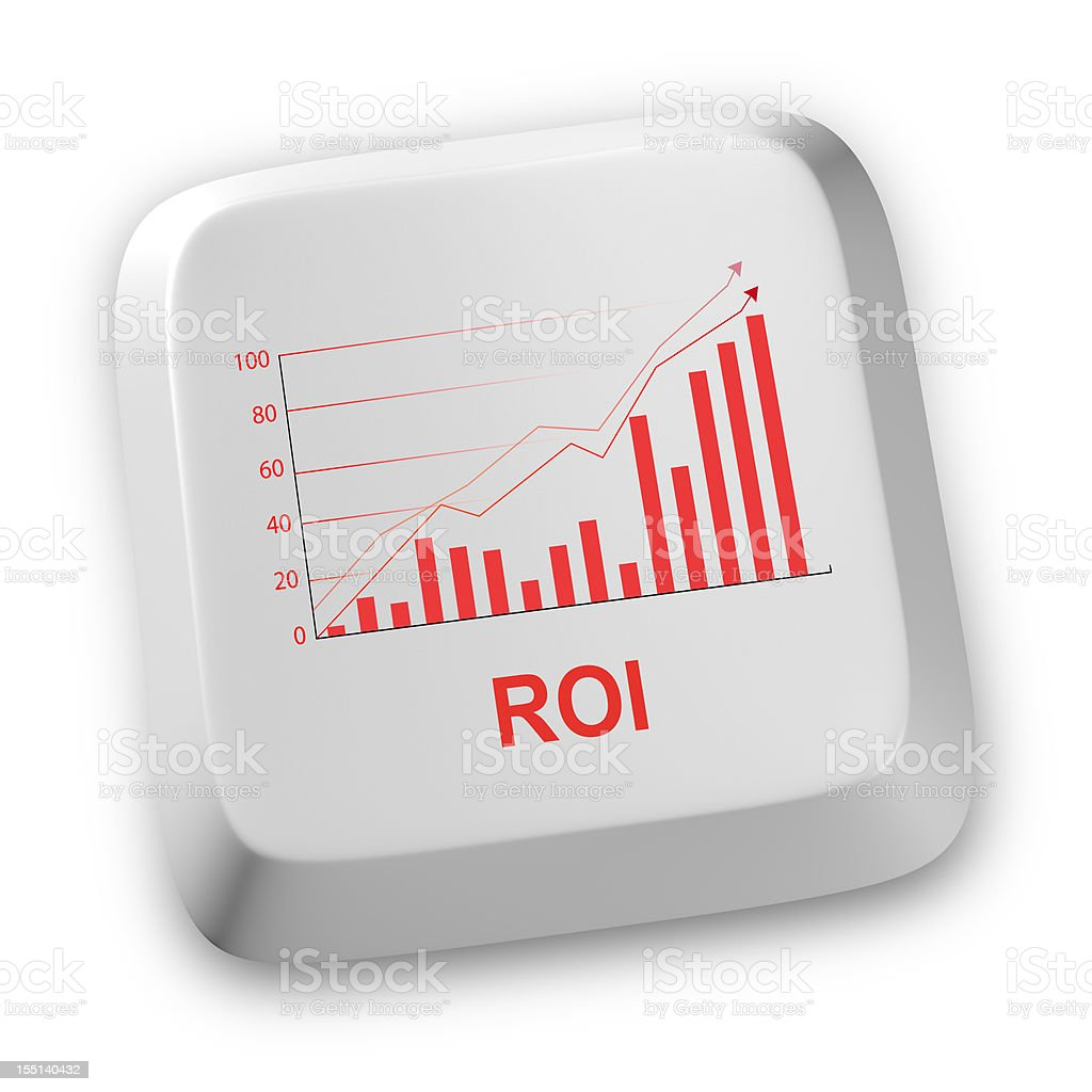 ROI computer  keyboard stock photo