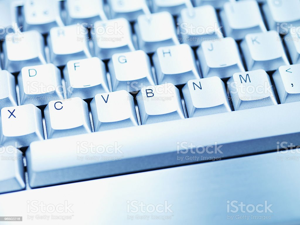 Computer keyboard space bar royalty-free stock photo