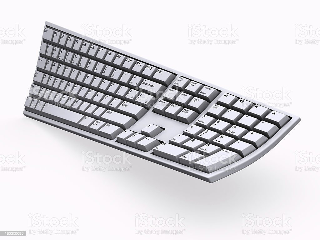 Computer keyboard twisted 2 royalty-free stock photo