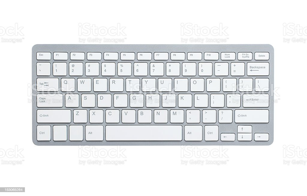 Computer keyboard with clipping path stock photo