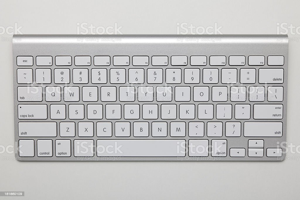Computer Keyboard With Clipping Path royalty-free stock photo
