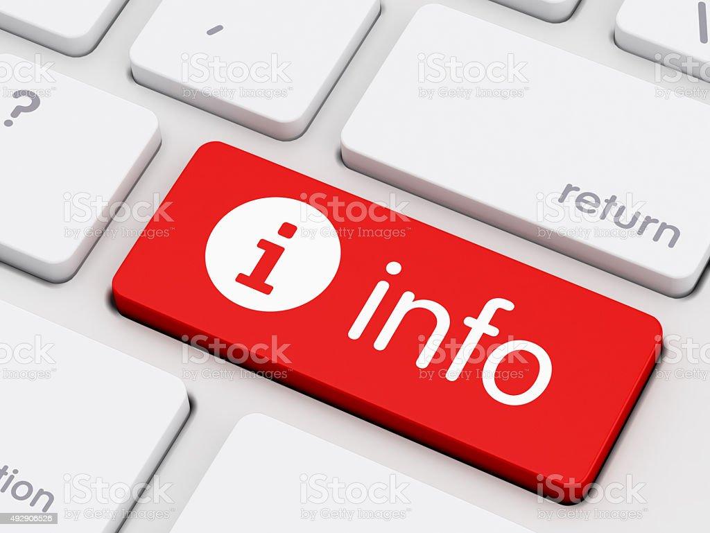 Computer Keyboard with symbol information key stock photo