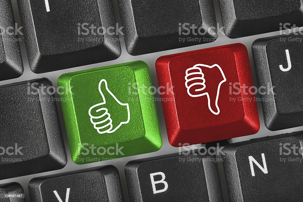 Computer keyboard with two gesturing hands royalty-free stock photo