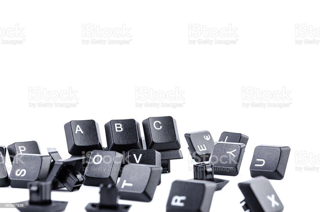 Computer keys forming ABC royalty-free stock photo