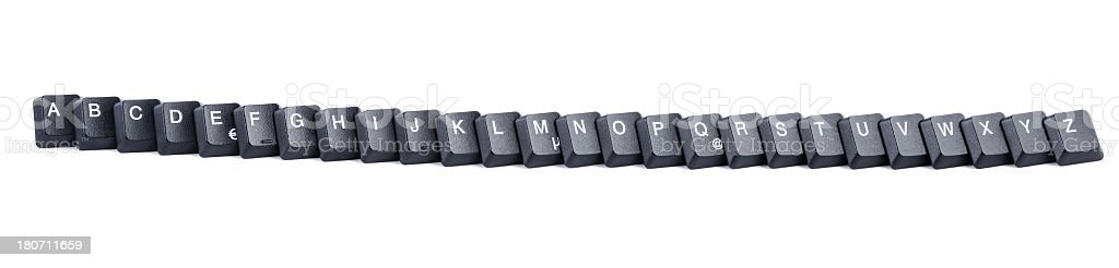 Computer keys forming the entire alphabet royalty-free stock photo