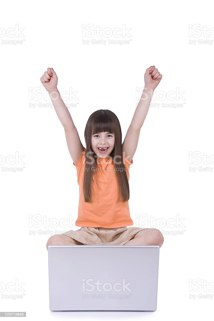 Computer Kids royalty-free stock photo