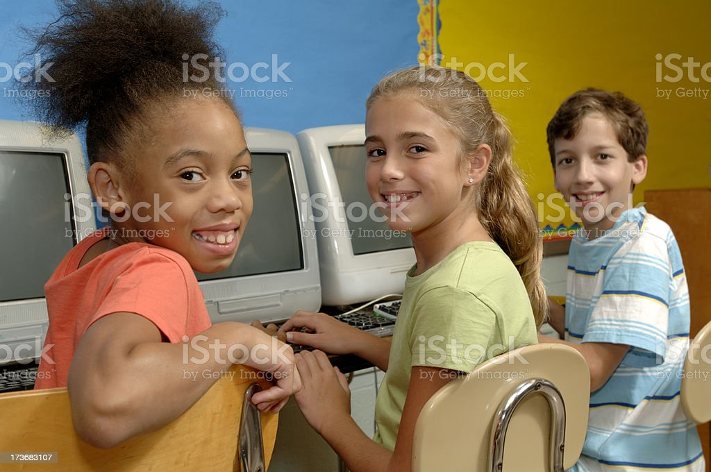 computer kids royalty-free stock photo