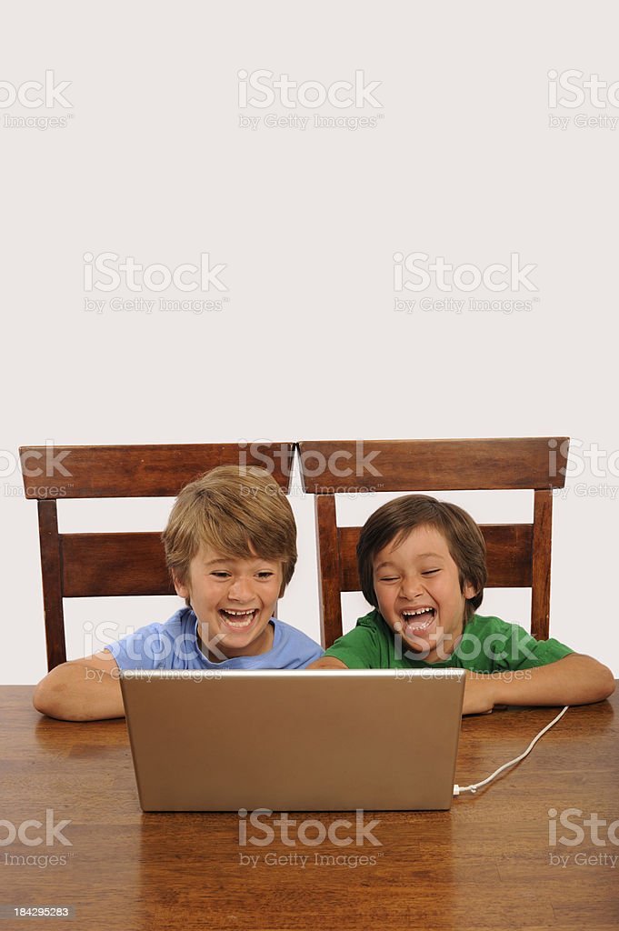 Computer Kids stock photo
